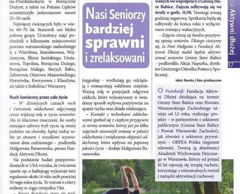 Gazeta Babicka: Nasi Seniorzy bardziej sprawni i zrelaksowani